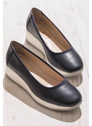 Elle %100 Deri Ayakkabı Lacivert